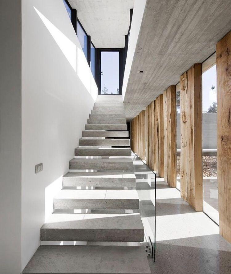 Concrete stairs   Staircase design, Interior architecture ...