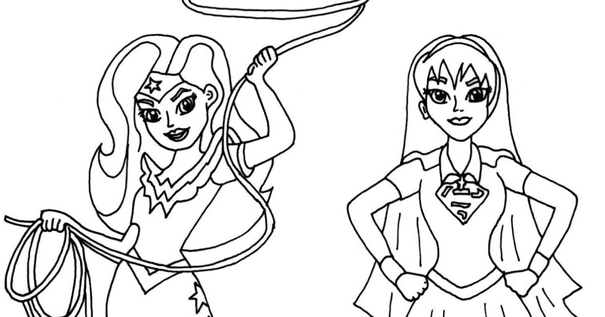 Free printable super hero high coloring page for Wonder Woman and ...