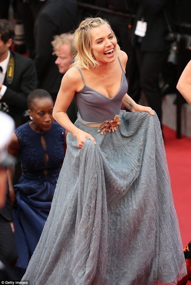 Gorgeous as ever: The 33-year-old actress and Cannes juror beamed with joy as she walked up the steps of the famous red carpet at the Closing Ceremony and premiere of Le Glace Et Le Ciel (Ice and Sky)