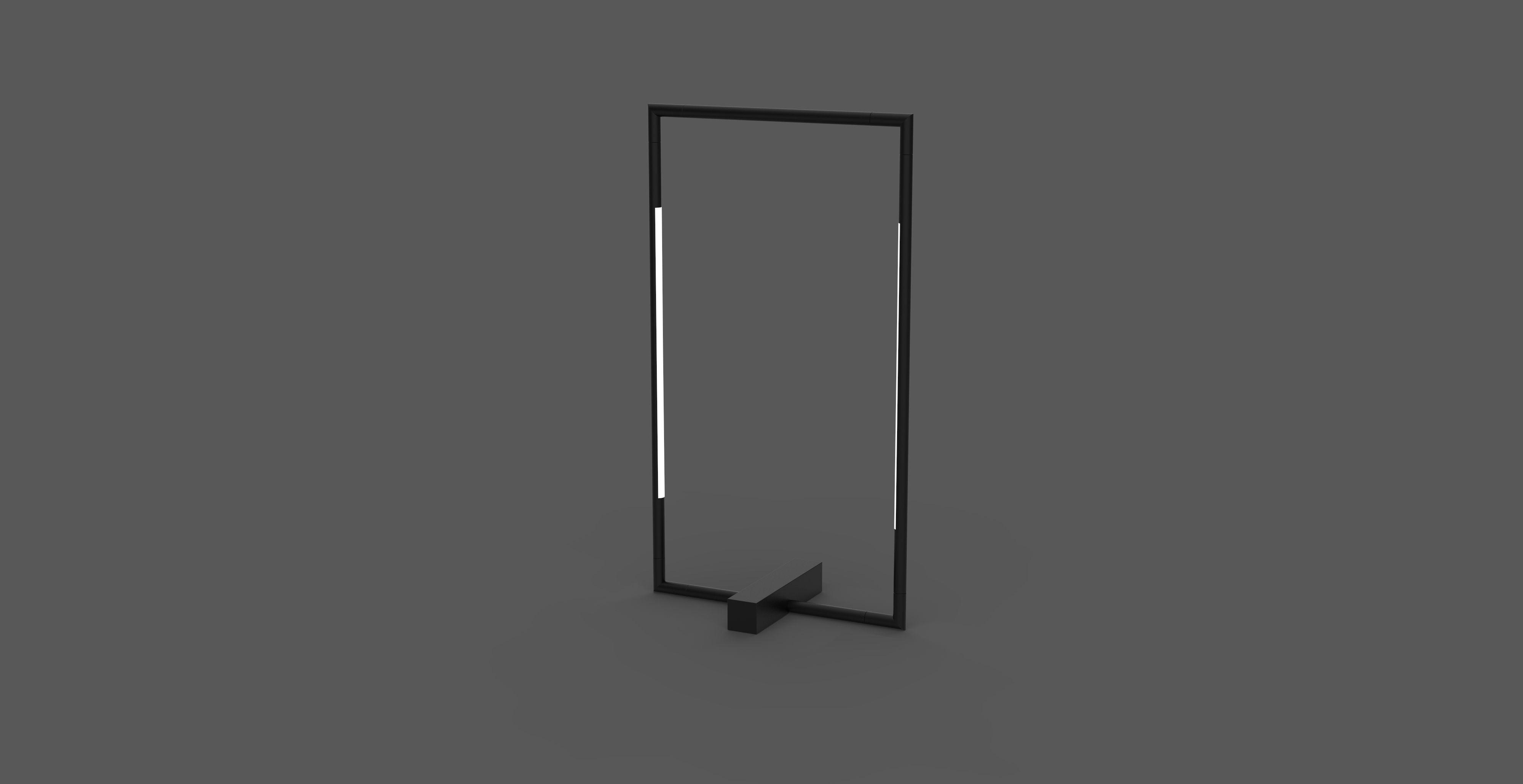 Tubular rectangular table lamp matt black in 2020