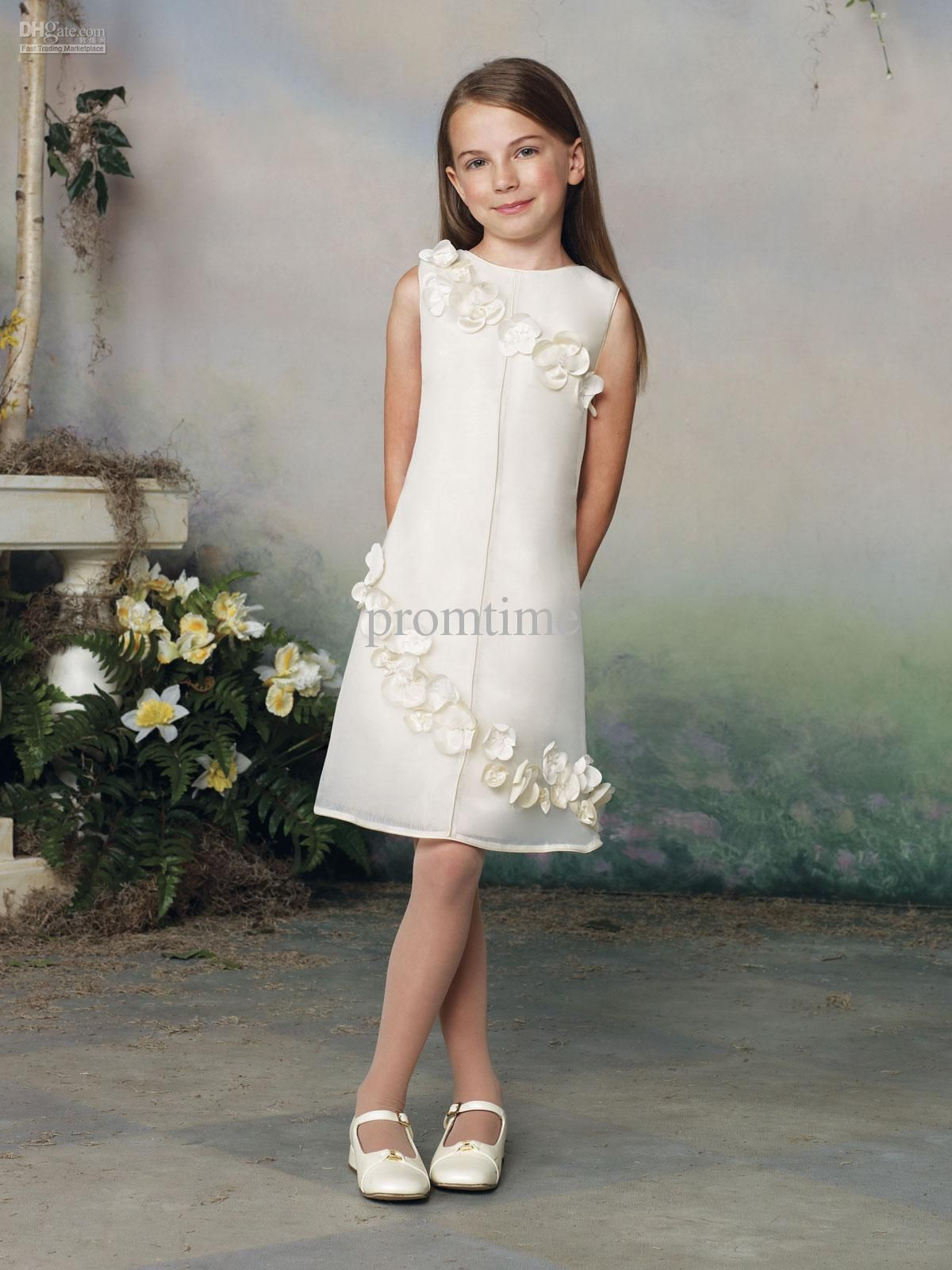 Bestselling simple hand made flowers designer girls formal occasion
