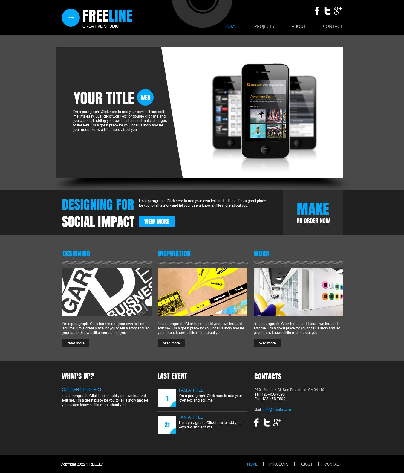 Take your projects online with this sharp HTML5 website template ...