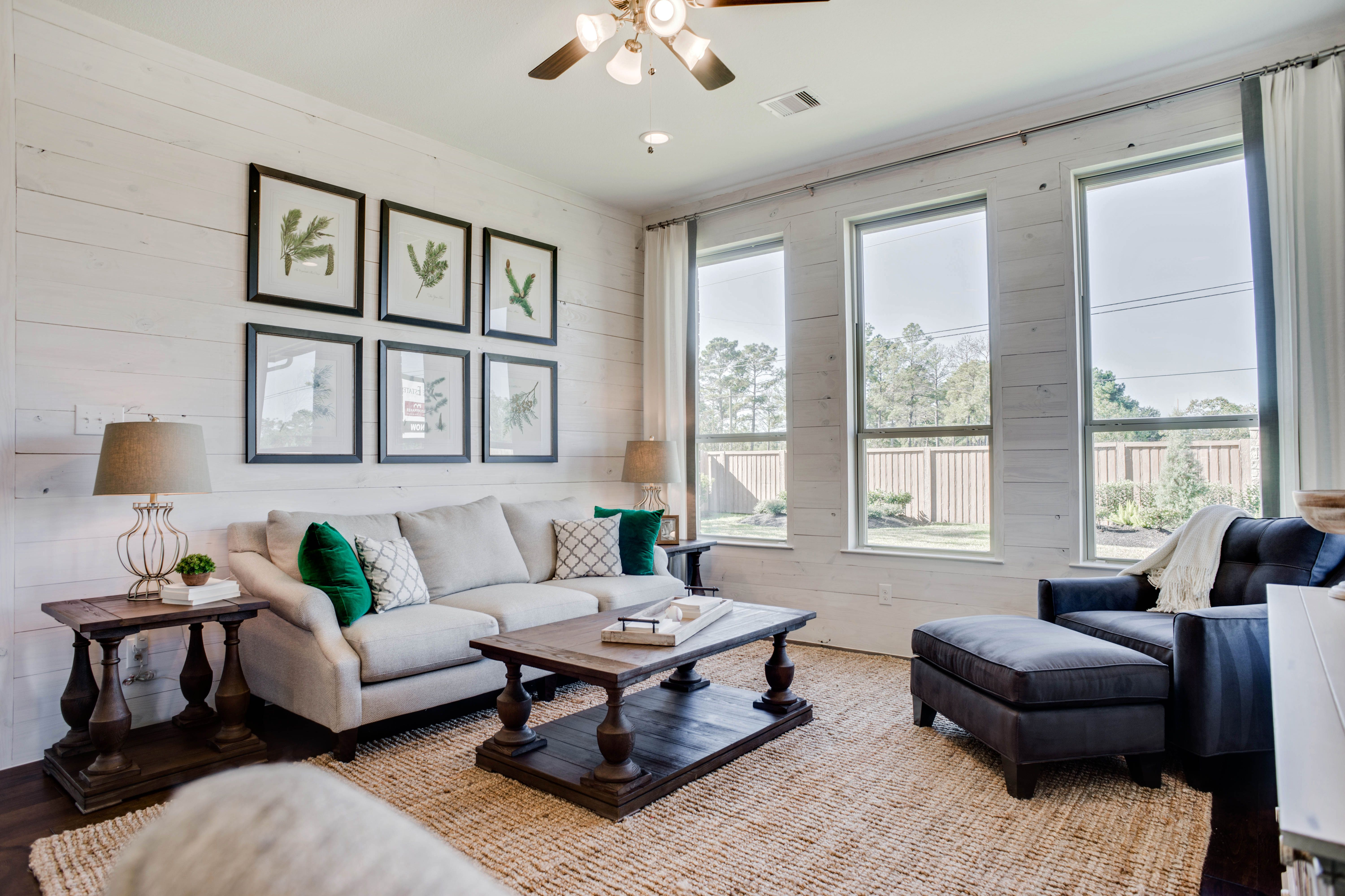 Checkout this family room in our Country Lake Estate model