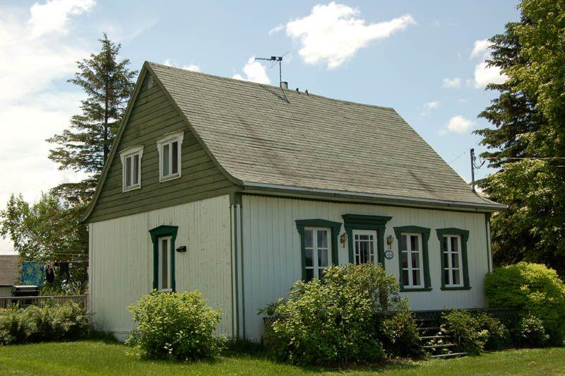 Maison verch re au qu bec avec toiture verte anciennes maisons du qu bec - Maison conteneur au quebec ...