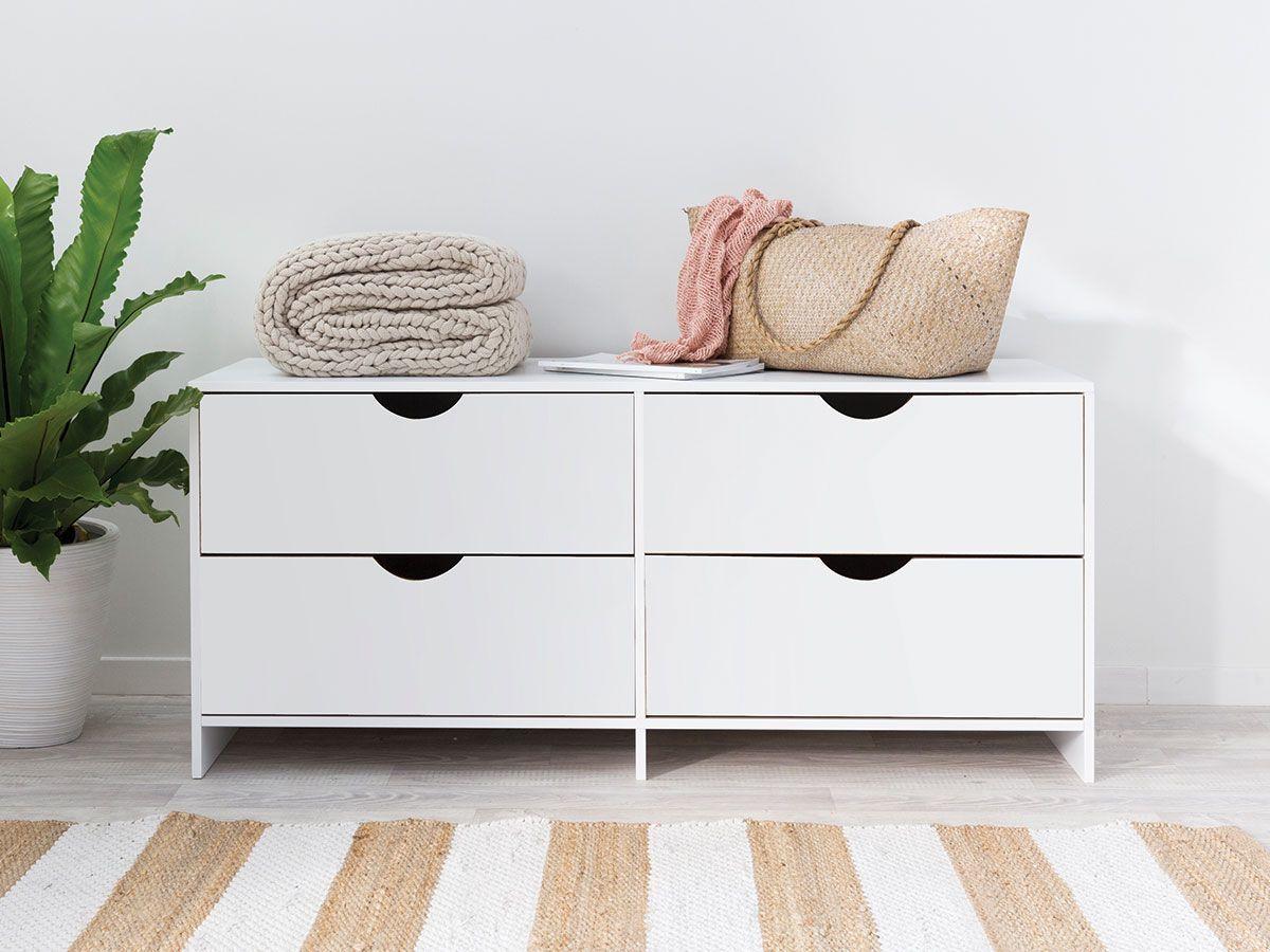 Brooklyn Midi Drawers - White Drawers  Mocka NZ  Kids bedroom