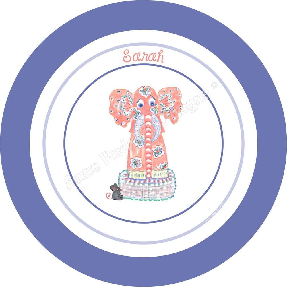 Personalized Melamine Plate Bowl Cup - Elephant  sc 1 st  Pinterest & Personalized Melamine Plate Bowl Cup - Elephant | Personalized ...