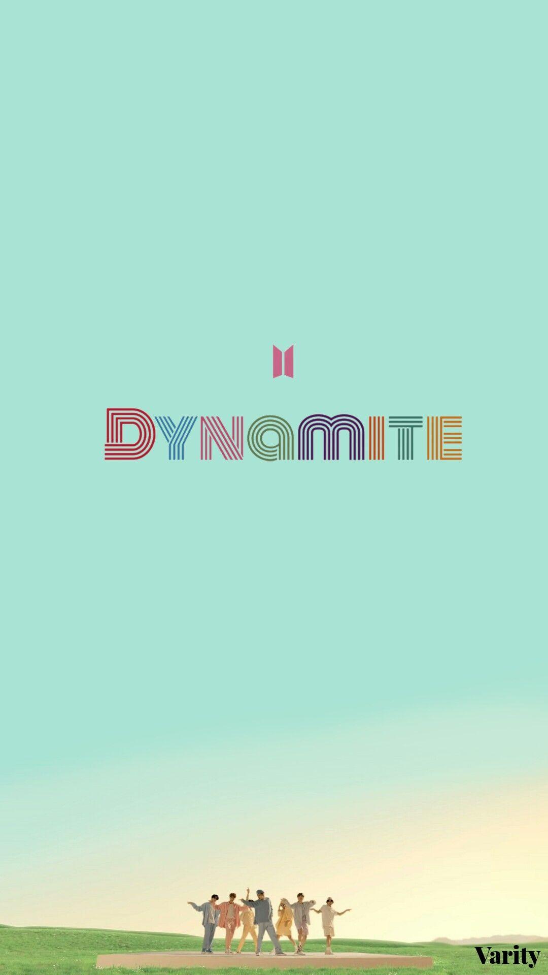 Dynamite Aesthetic Wallpaper Lockscreen In 2021 Bts Wallpaper Lyrics Bts Wallpaper Album Bts Bts dynamite logo wallpaper