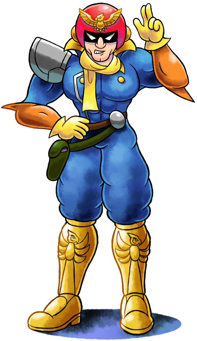 ''Mario+Luigi'' RPG Style Captain Falcon by https//www