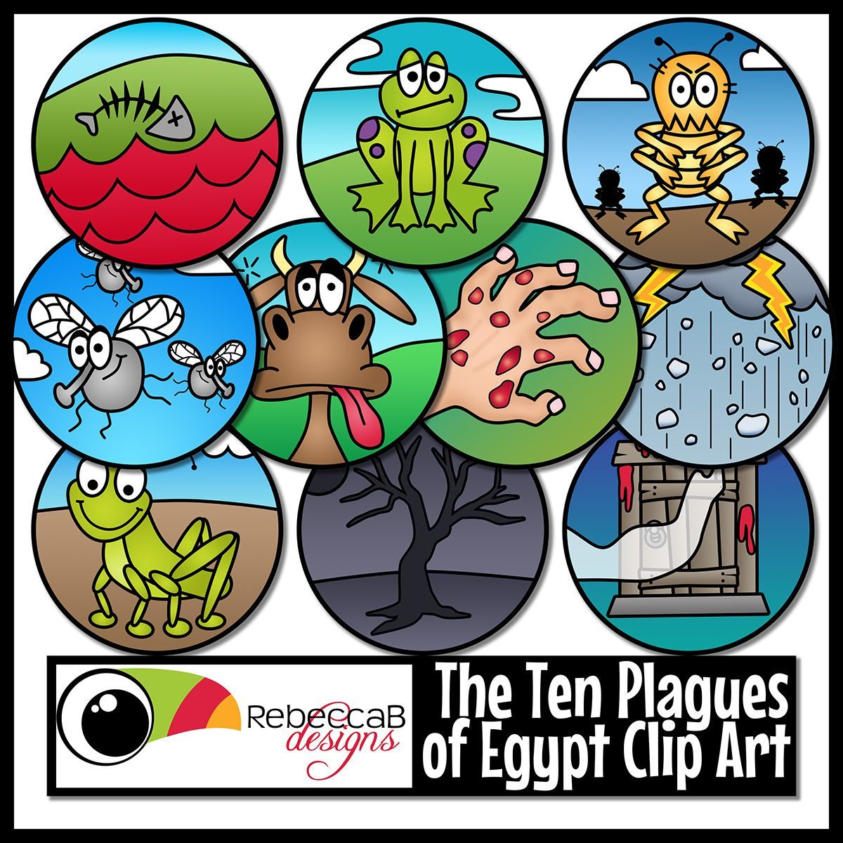 Ten Plagues Of Egypt Clip Art Moses Ten Plagues Of Egypt