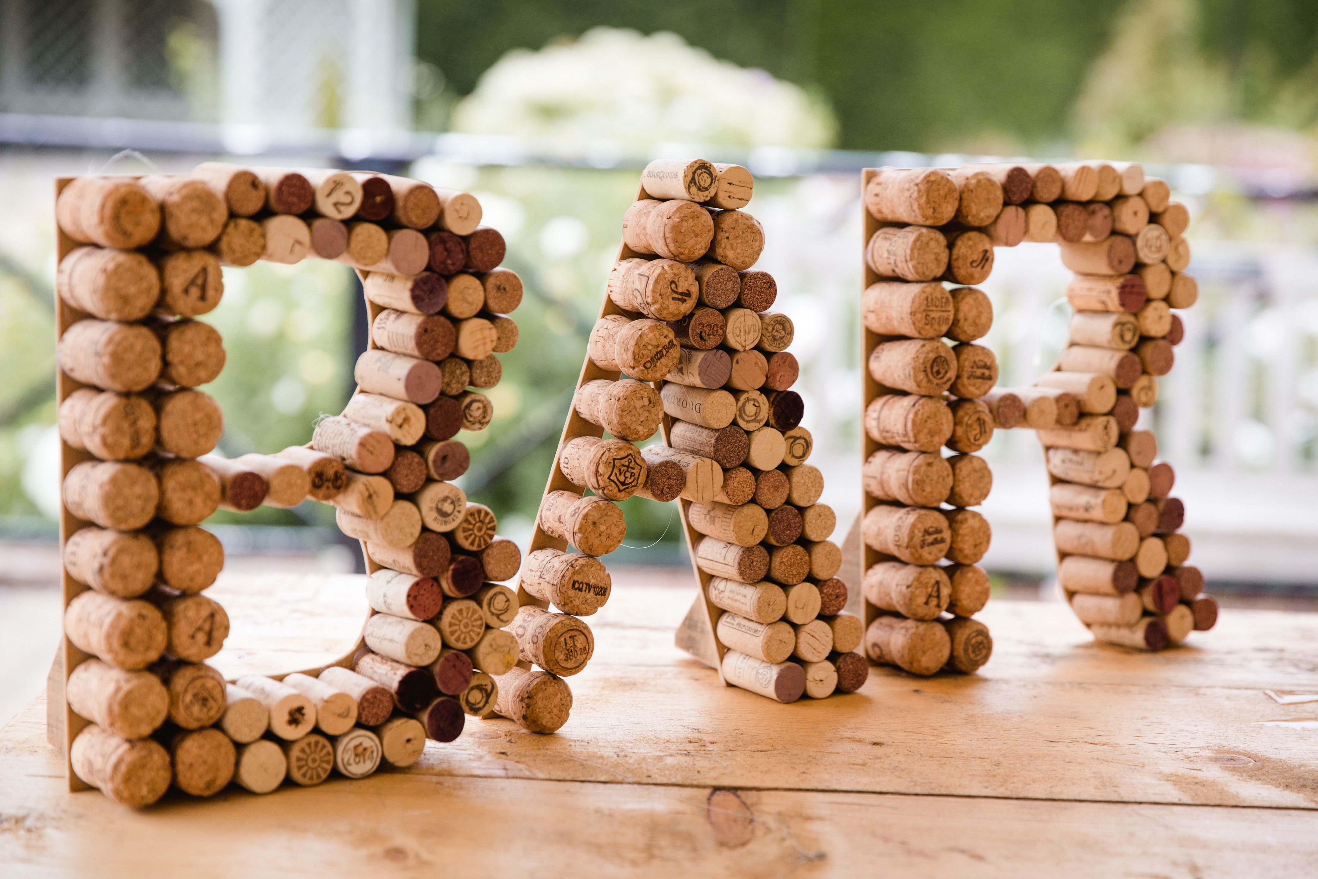 Cork bar sign - orders available at bohodesignsbychloe@yahoo.com   for a rustic wedding or party