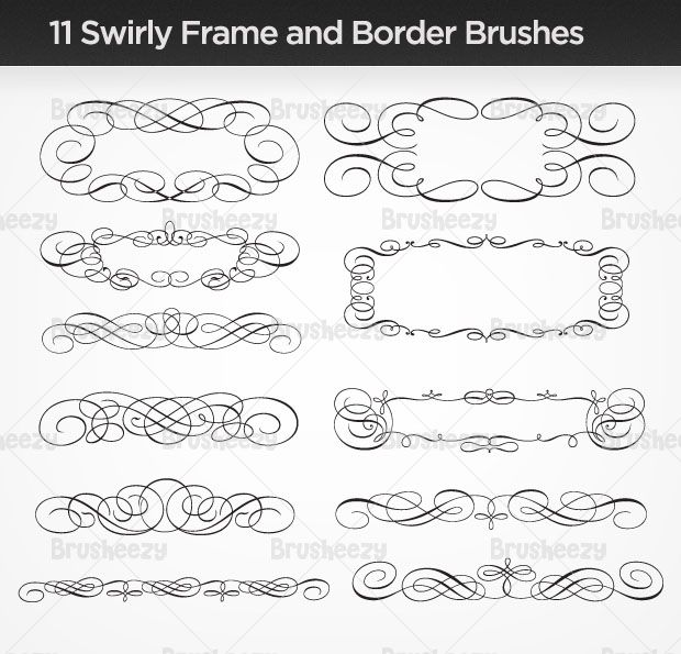 Scroll Type Frames Free Vector Art Swirly Monogram Fonts