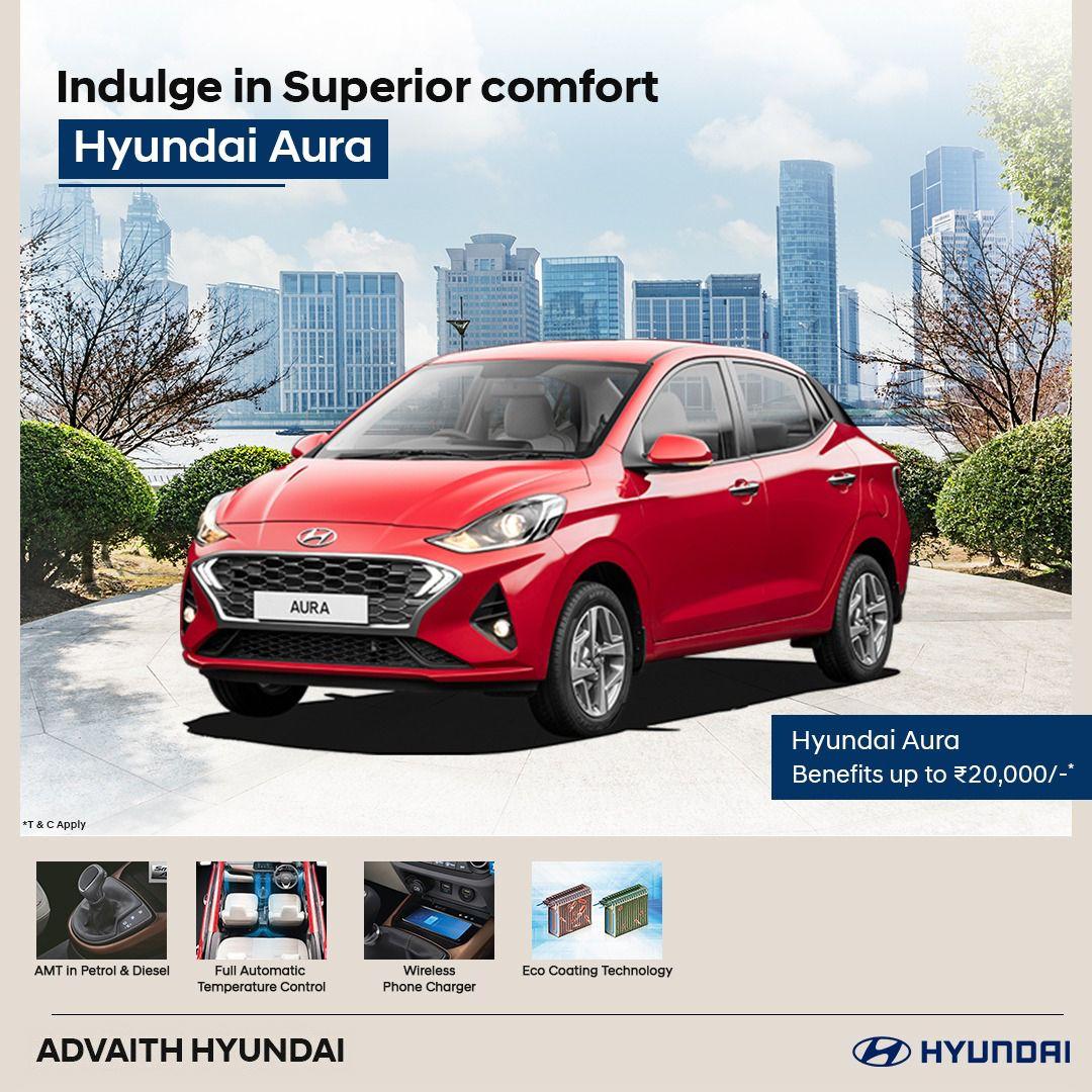 Indulge in superior Comfort with Hyundai Aura. in 2020