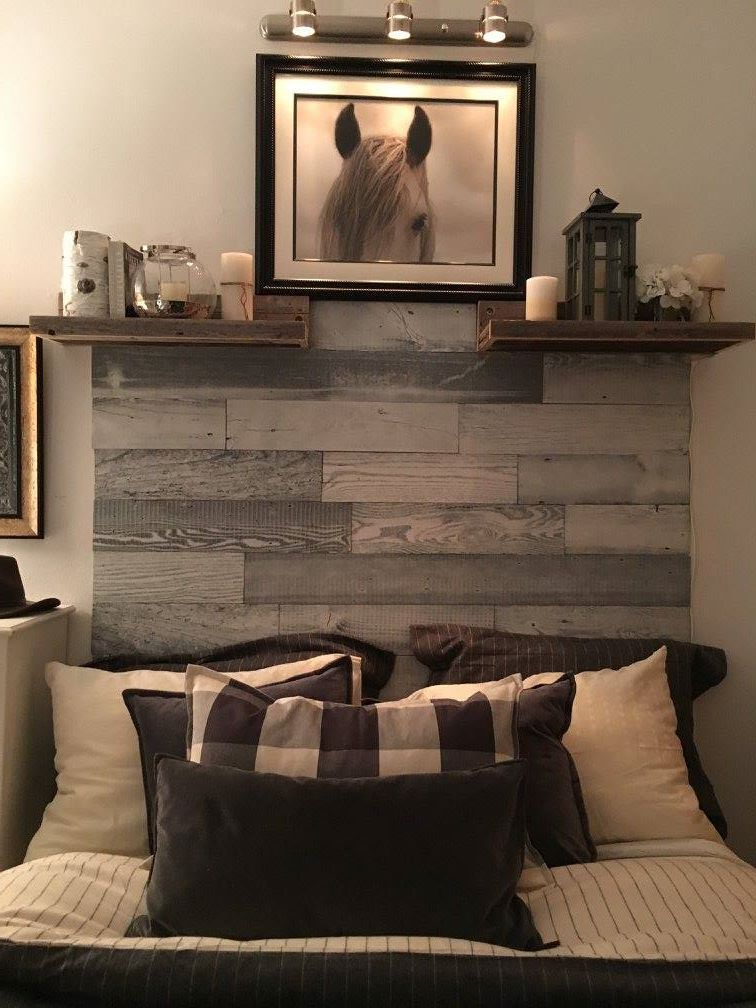 Check out this customers 5 Inch WhiteWashed headboard! The decor accents the Artis Wall perfectly! Thank you for sharing, Mena! #myartiswall
