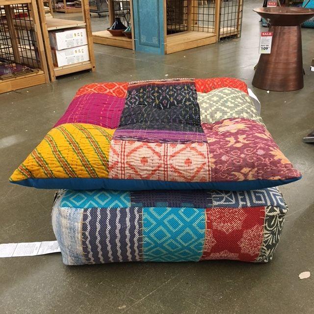fun floor pillows from World Market) | ...I hear little feet ...