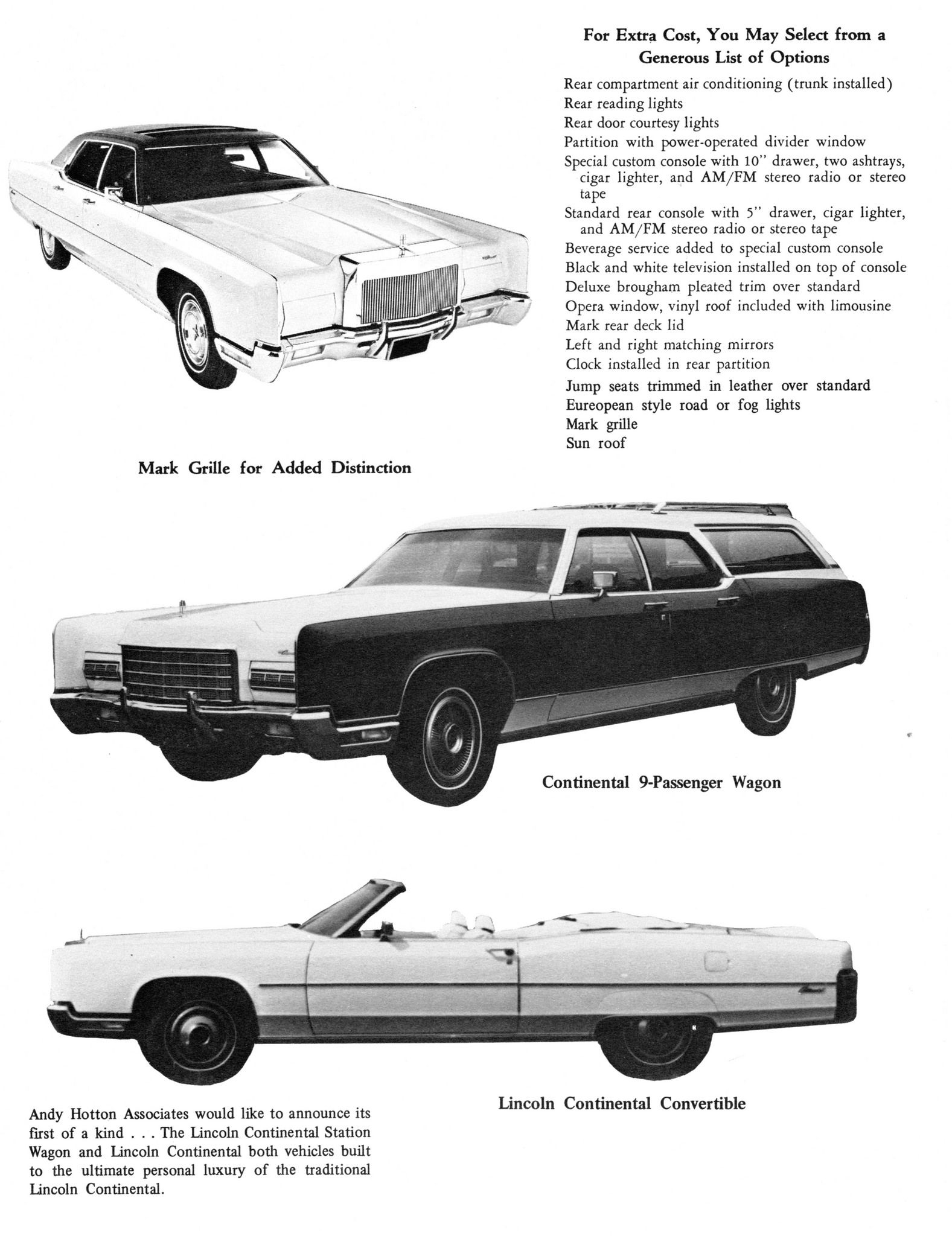 1973 Lincoln Continental Wagon Convertible Conversions By Andy Hotton Ociates Aha Ad