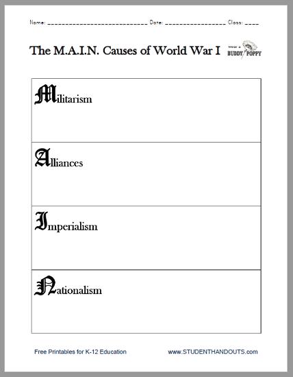 45+ World war 1 worksheets pdf For Free