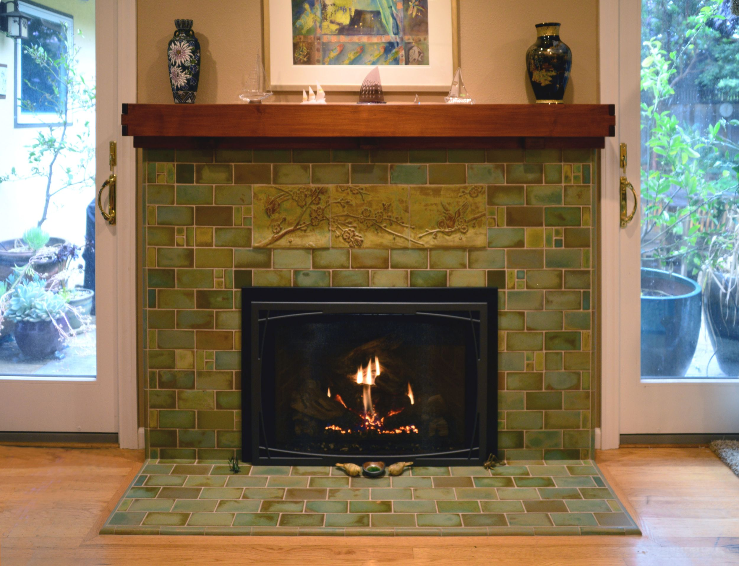 Birds And Bees Fireplace Dream Living Dining Craftsman