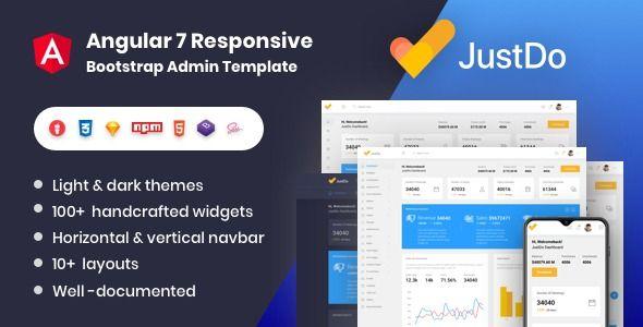Justdo Angular 7 Responsive Bootstrap Admin Template