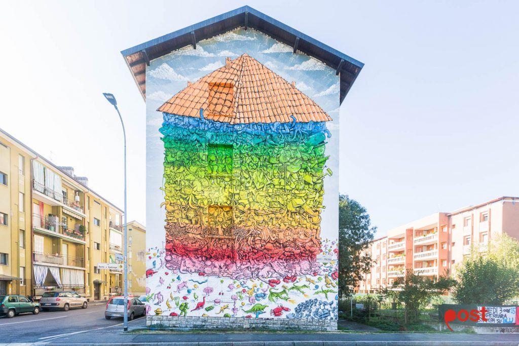 """A House For Everyone"" by Blu in Bergamo, Italy  #streetart #mural #graffiti"