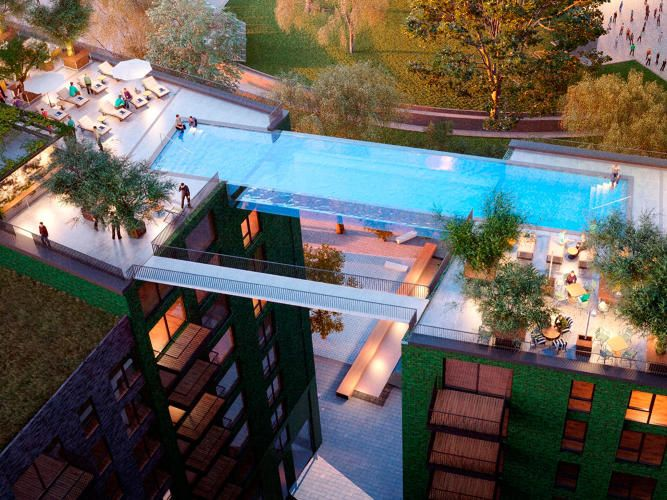 Floating above london this invisible pool lets you swim for Pool design education