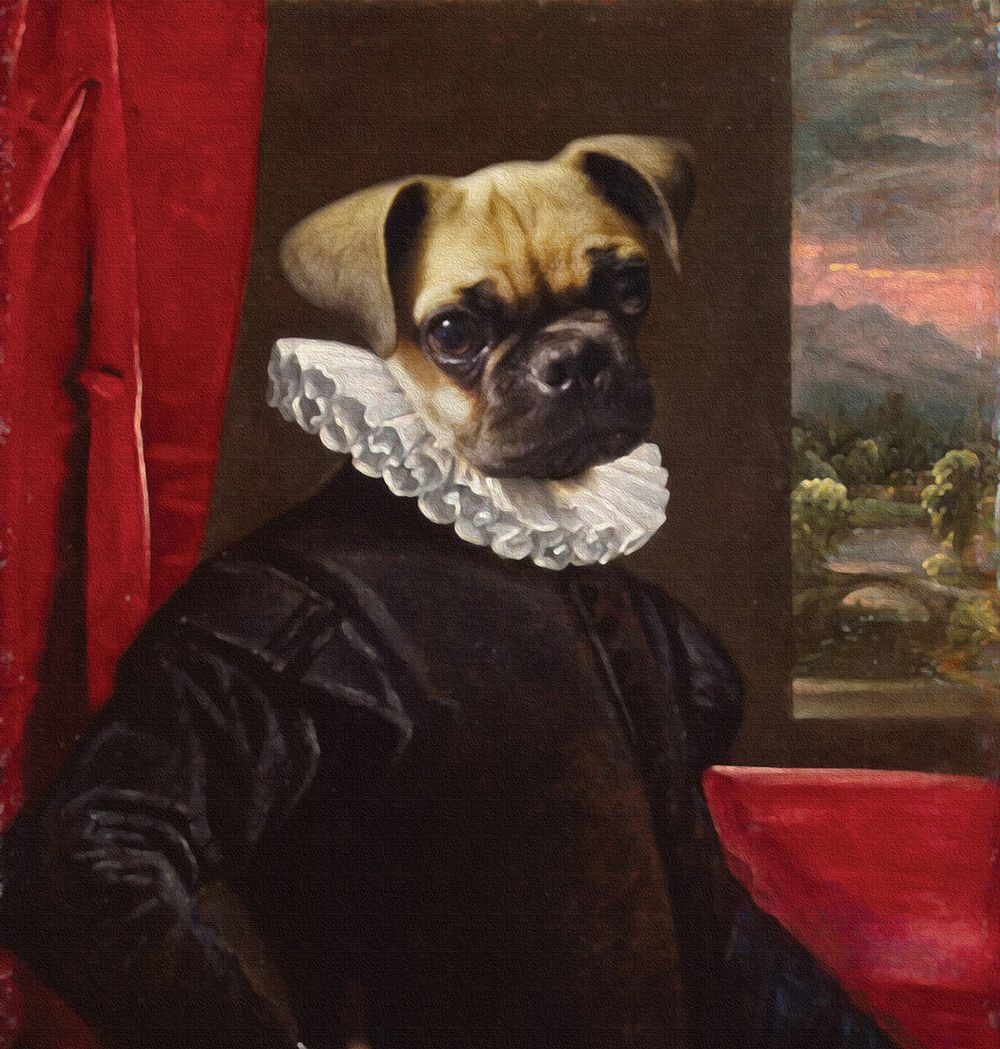 Rupert Anthropomorphic Dog Digital Art Pet Portraits