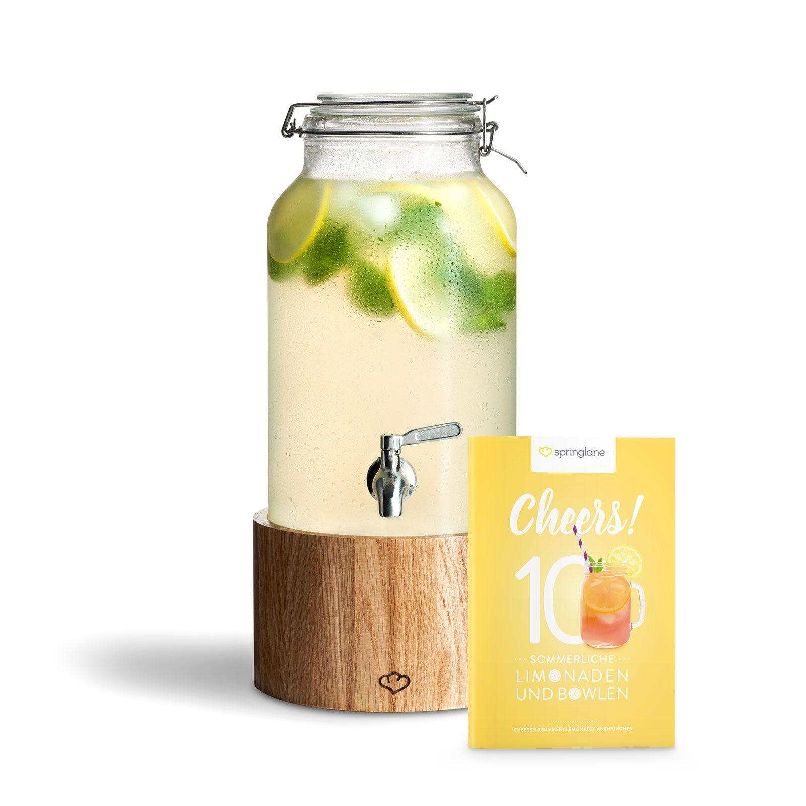 Krauterlimonade Mit Fruchtigem Apfel Und Wacholderbeeren Rezept Getranke Spender Getrankespender Limonade