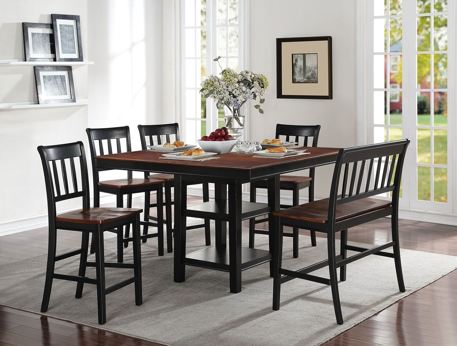 Dining Room Furniture  Nyla 6Piece Counterheight Dining Package Alluring Dining Room Accent Pieces Review
