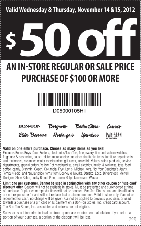 picture relating to Bon Ton Printable Coupon referred to as Herbergers goodwill coupon code 2018 - Xe1 discounts