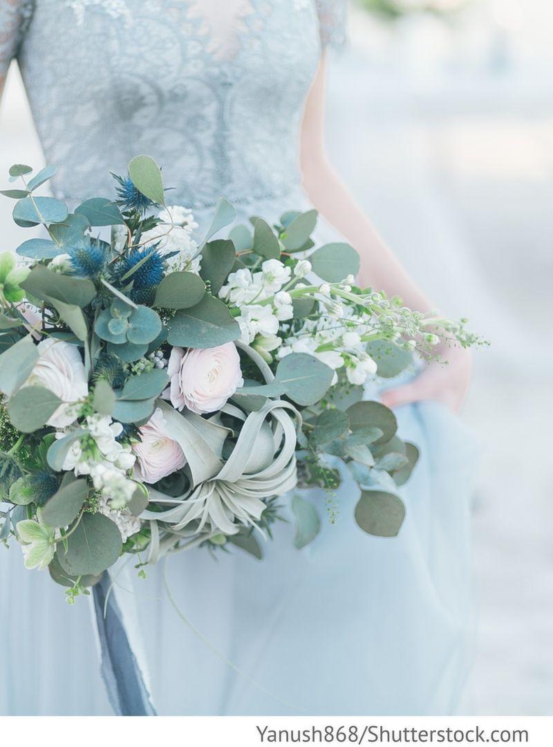 Blumenstrauss Mit Eukalyptus Fur Brautjungfern Fur Russische