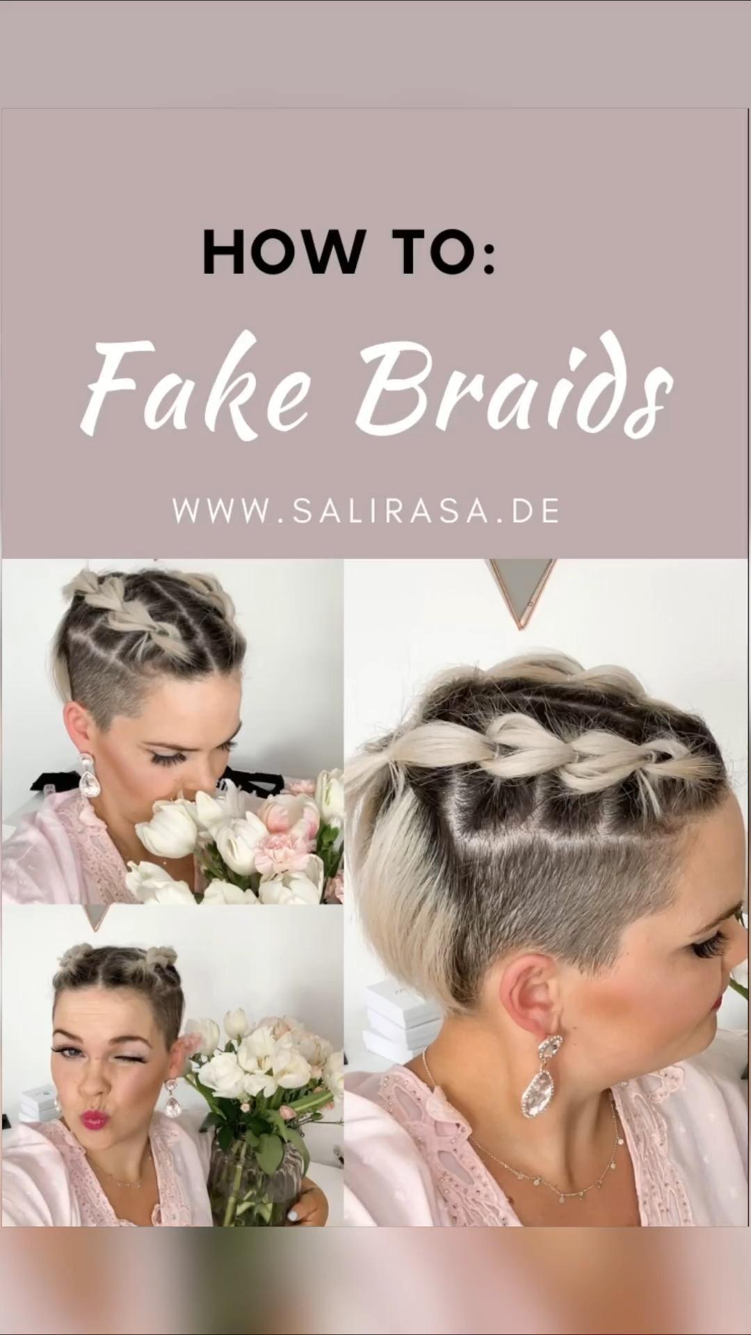 Fake braids für ganz kurze haare
