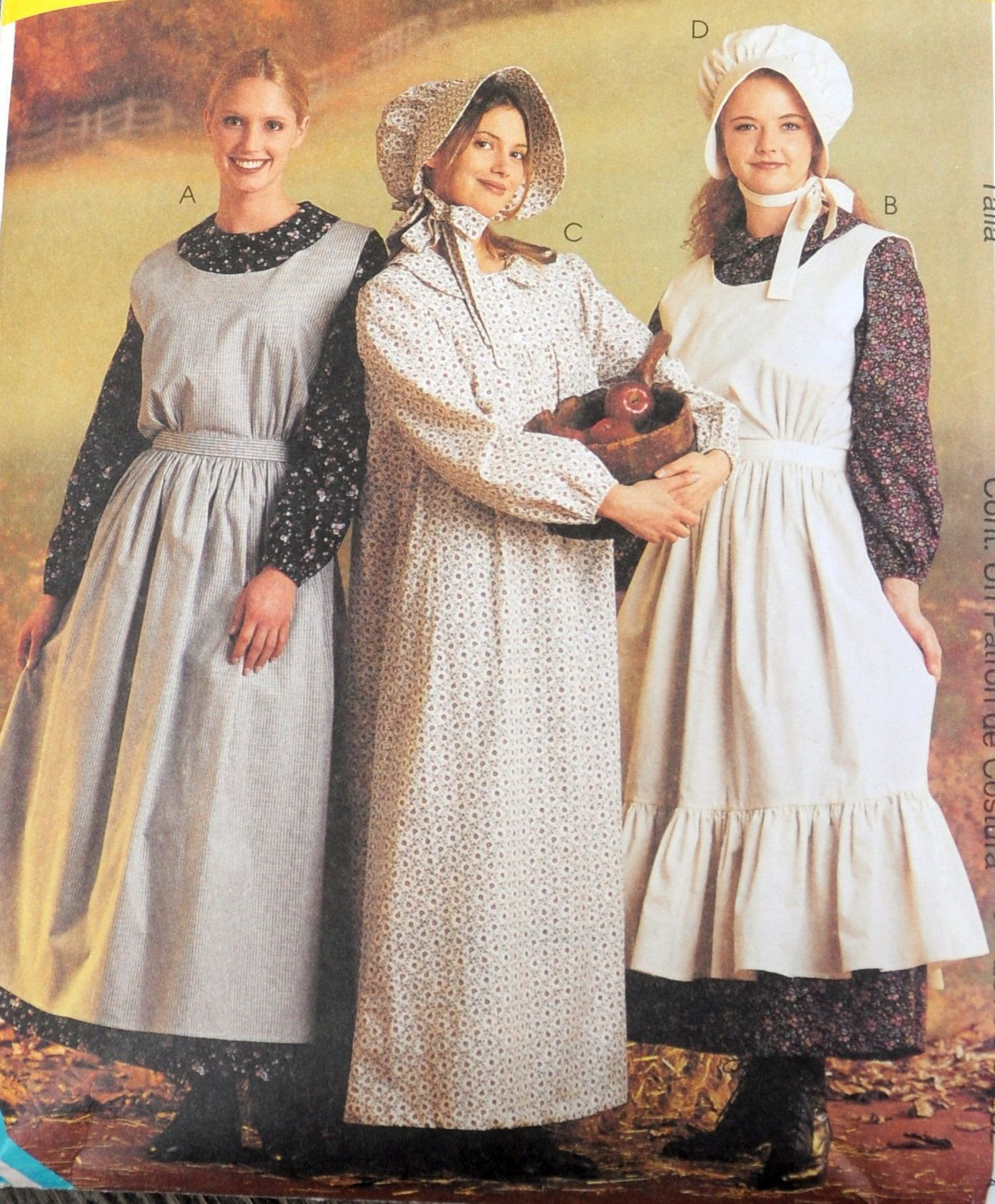 McCall/'s 9424 Girls/' Pioneer//Prairie Costumes Pattern
