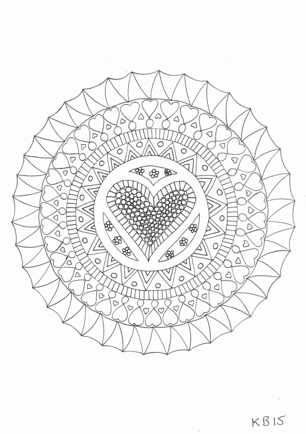 Adult Colouring Page Hearts Adult Coloring Coloring Pages