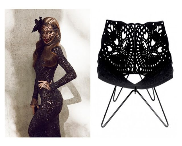 Fashion vs interior - lace