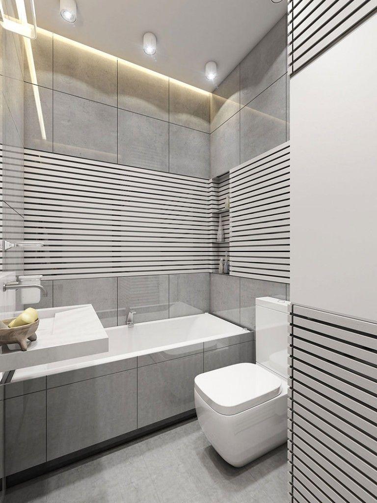 Banheiros pequenos quadrados