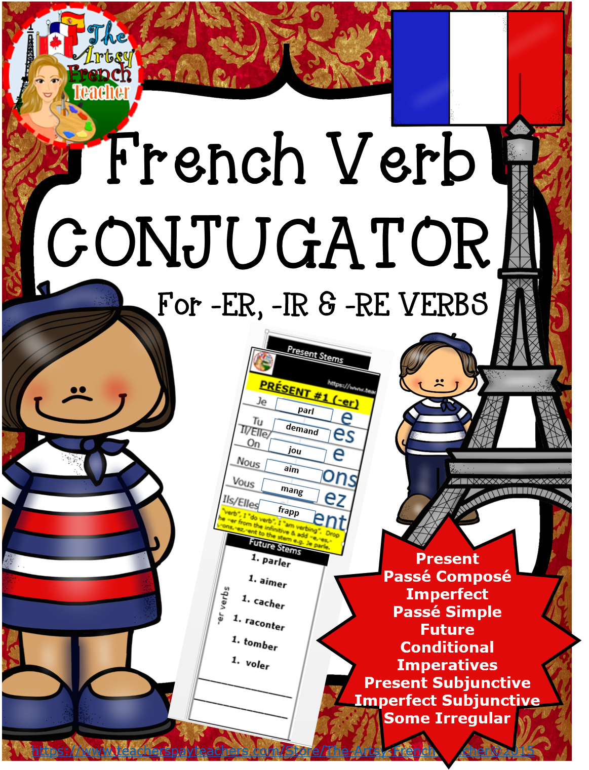 French Reflexive Verbs Worksheet