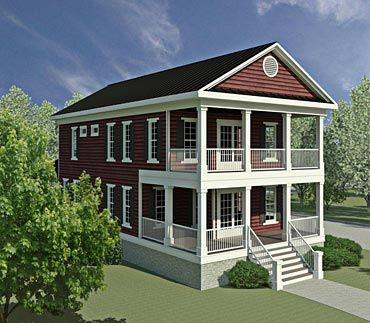 Coastal Home Plans - Exeter Place   Combine guest room and mud room for playroom/den