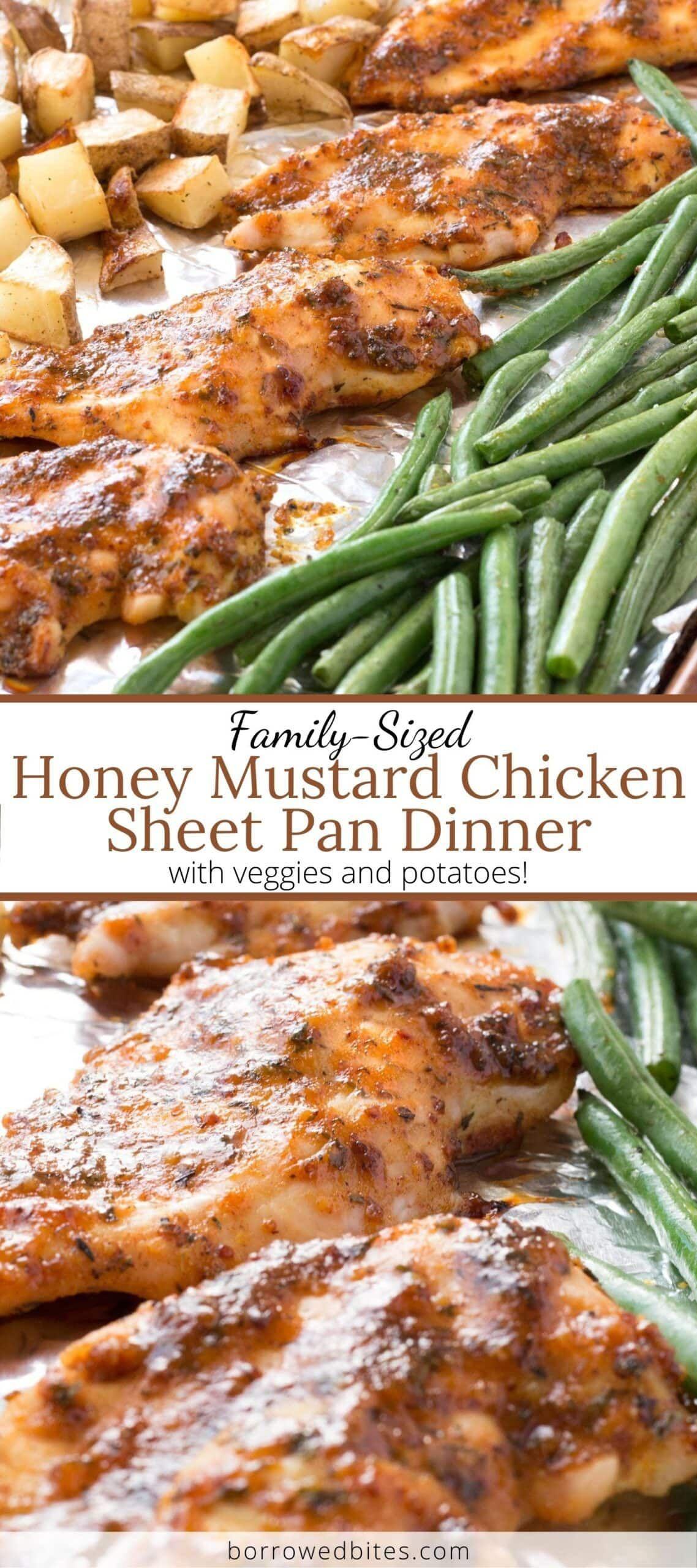 Honey Mustard Chicken Sheet Pan Dinner (with veggi