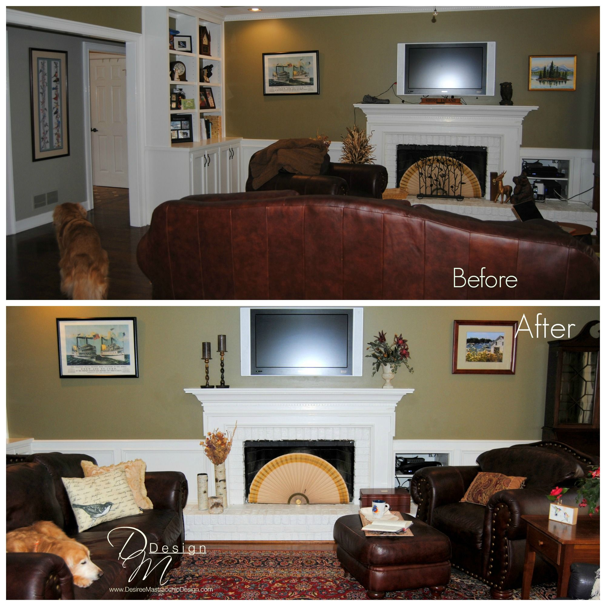 Before- This Family Room Was Cramped, Crowded And Not