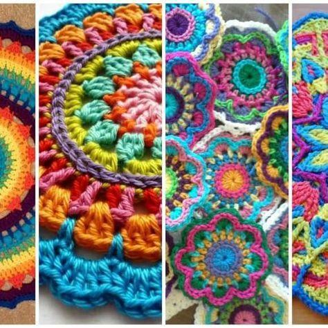 Mandalas a crochet , ¡paso a paso! | Pinterest | Mandalas, Ganchillo ...