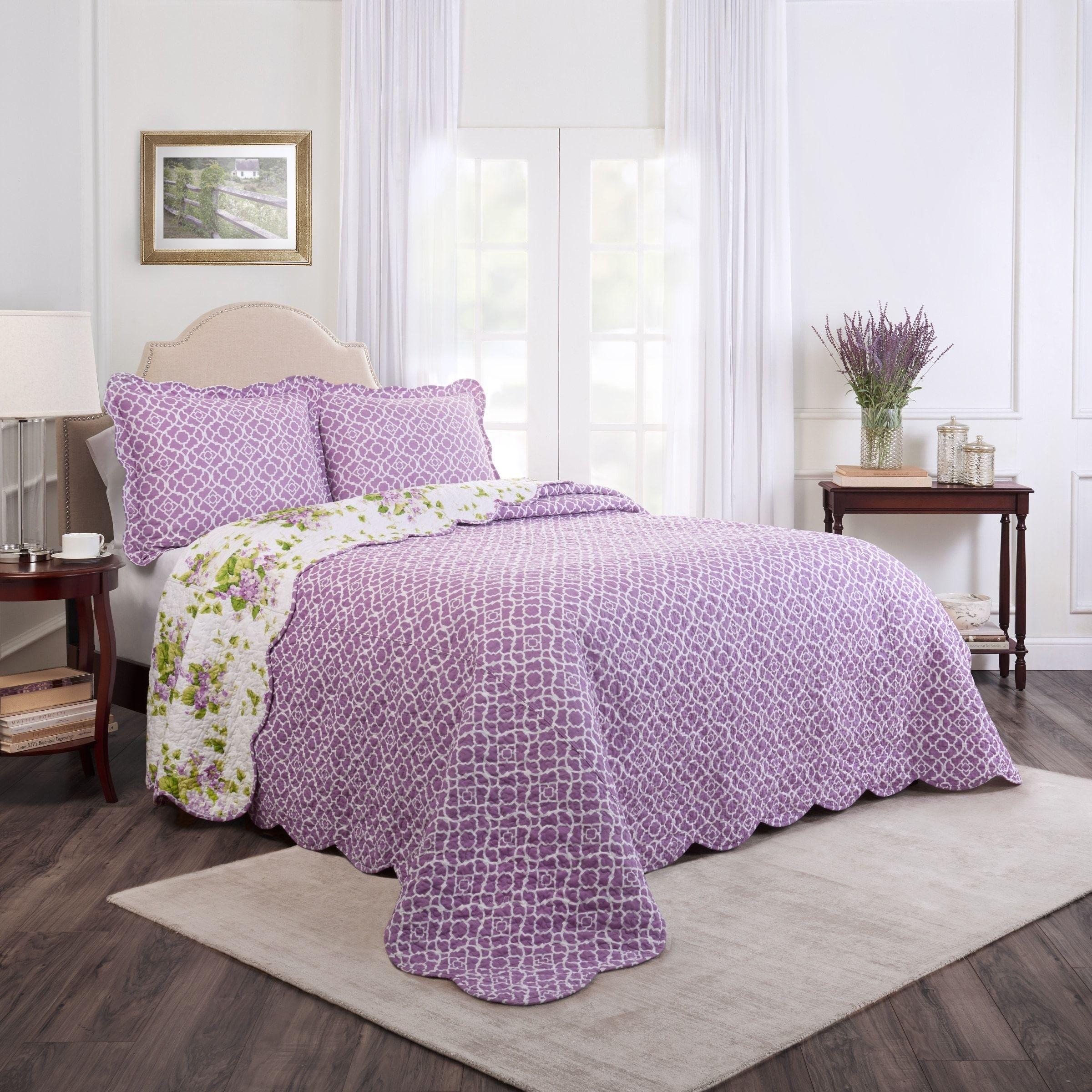 Image result for violets bedspread Bedspread set, Bed