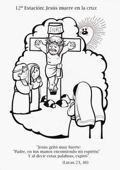 La Catequesis Via Crucis Para Colorear Los Ninos De Catequesis Via Crucis Para Ninos Artesania Biblica Semana Santa Ninos