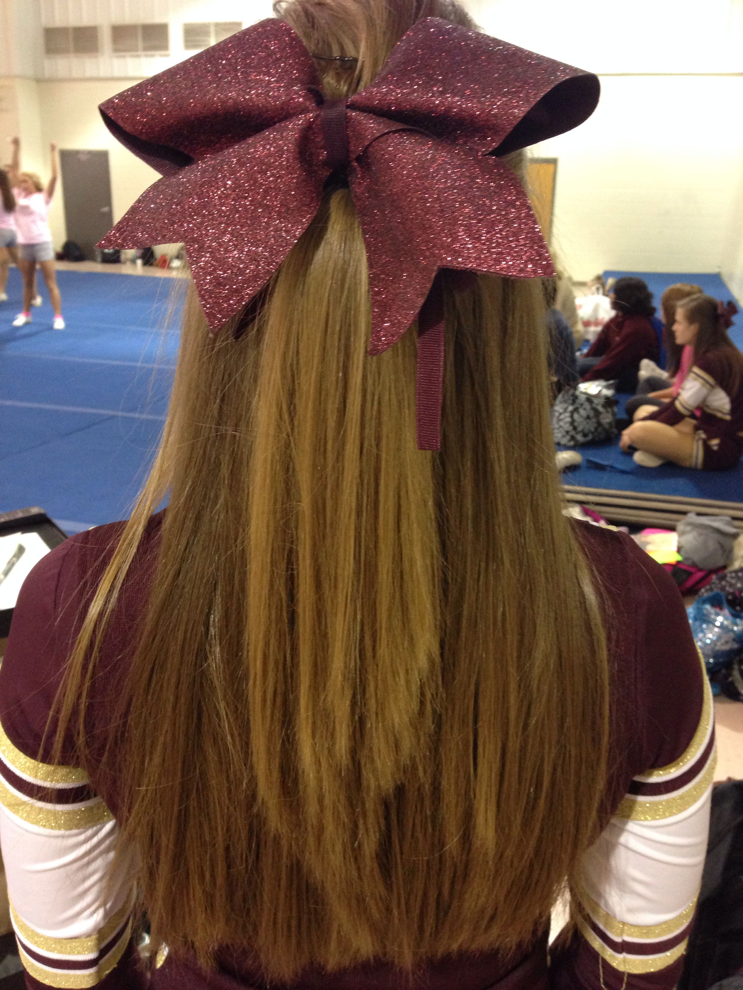 perfect cheer hair for non-humid football games! straight