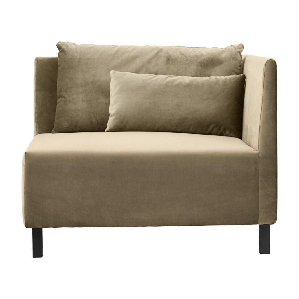 House Doctor Box corner module sofa in sand color with two pillows