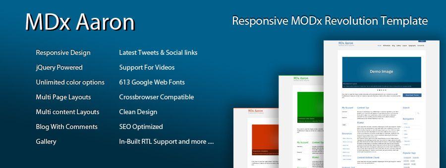 MODx Template - MDx Aaron | modx templates | Pinterest
