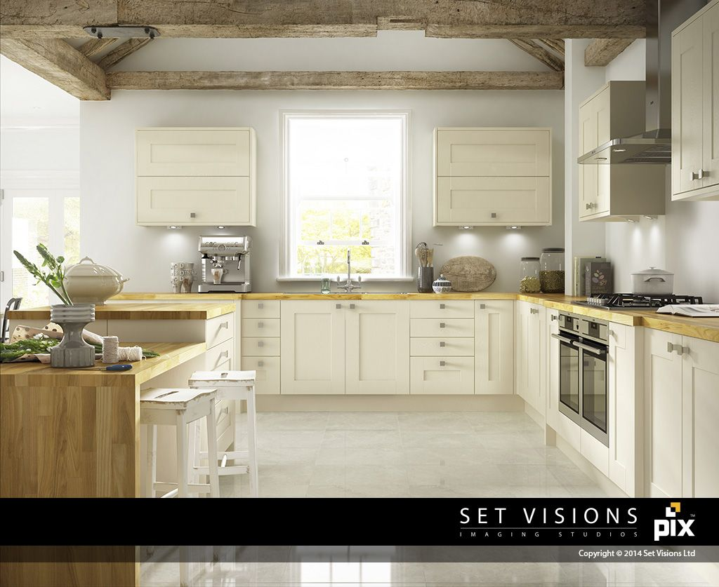 Contemporary White Shaker Kitchen a contemporary take on a white shaker kitchen. country chic