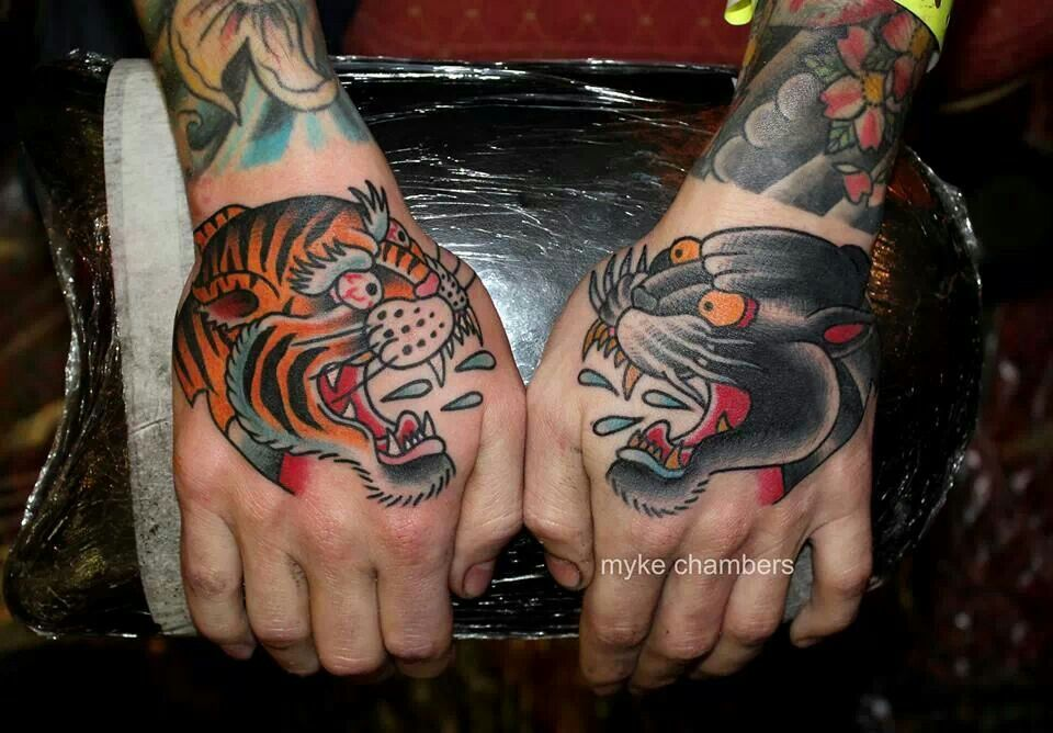 Tiger hand vs panther hand