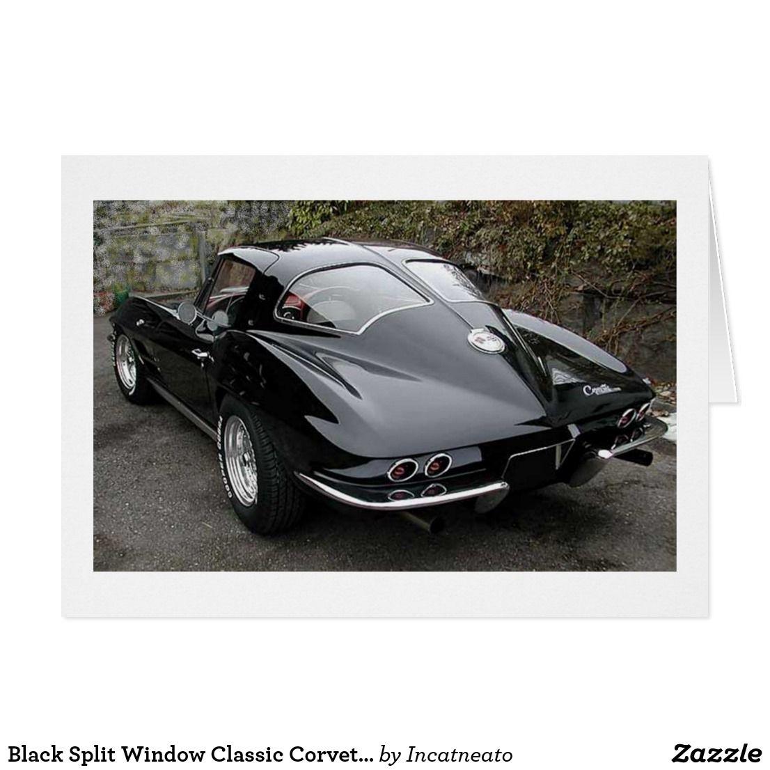 Black Split Window Classic Corvette Card | Zazzle.com