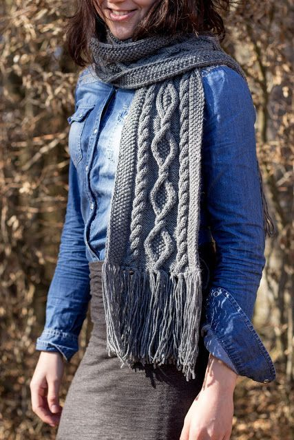 Photo of Instructions: Knit scarf with cable pattern yourself  #cable #instructions #patt…