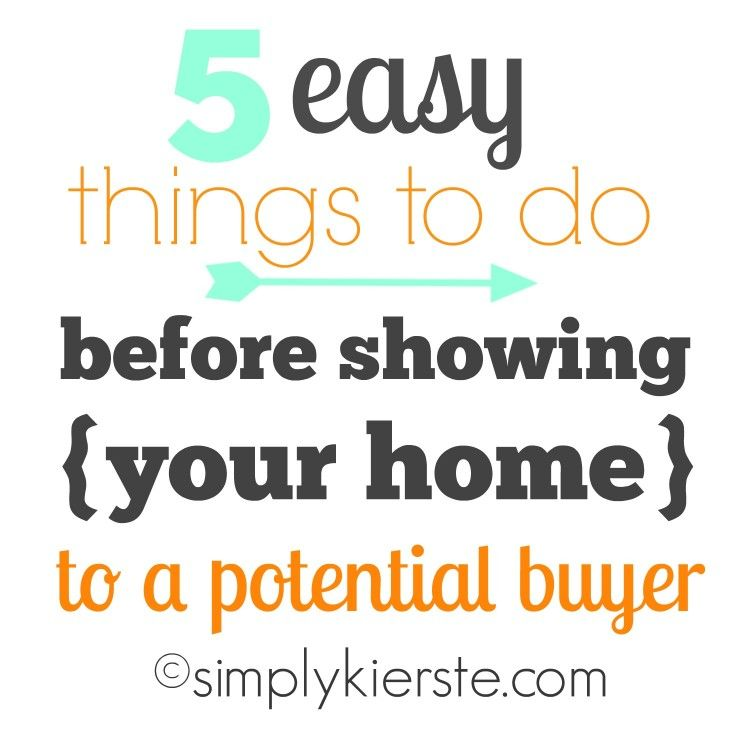 5 easy things to do before showing your home to a potential buyer simply kierste real estate. Black Bedroom Furniture Sets. Home Design Ideas