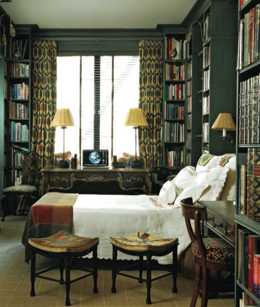 Charmant Library. Bedroom.